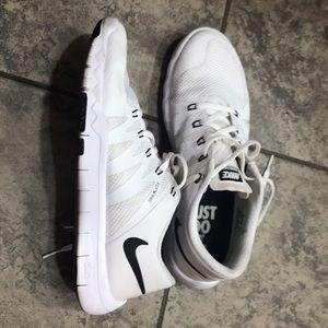 Men's Nike Free 5.0 US size 8.5 white and light
